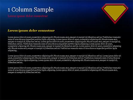 Superman Sign Frame PowerPoint Template, Slide 4, 14958, Abstract/Textures — PoweredTemplate.com
