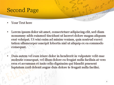 E-Learning Word with Formulas PowerPoint Template, Slide 2, 14959, Education & Training — PoweredTemplate.com