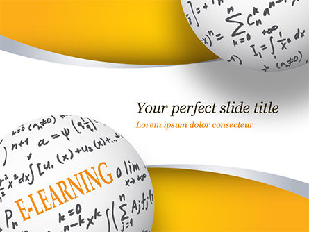 E-Learning Word with Formulas PowerPoint Template, 14959, Education & Training — PoweredTemplate.com