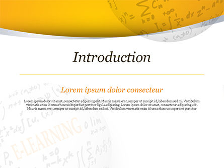 E-Learning Word with Formulas PowerPoint Template, Slide 3, 14959, Education & Training — PoweredTemplate.com