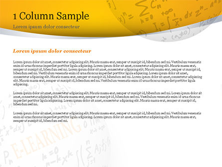 E-Learning Word with Formulas PowerPoint Template, Slide 4, 14959, Education & Training — PoweredTemplate.com