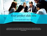 Business: 小组一起工作的商务人士PowerPoint模板 #14960