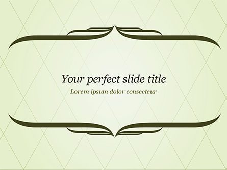 Abstract/Textures: Green Vintage Frame PowerPoint Template #14961
