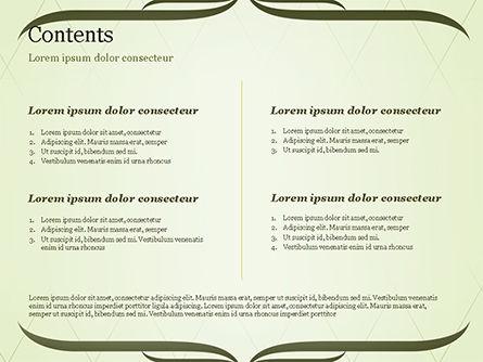 Green Vintage Frame PowerPoint Template, Slide 2, 14961, Abstract/Textures — PoweredTemplate.com