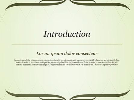 Green Vintage Frame PowerPoint Template, Slide 3, 14961, Abstract/Textures — PoweredTemplate.com