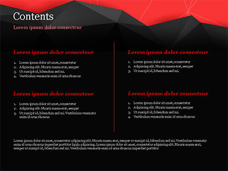 Red and Black Abstract Polygonal Background PowerPoint Template, Slide 2, 14963, Abstract/Textures — PoweredTemplate.com