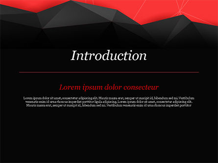 Red and Black Abstract Polygonal Background PowerPoint Template, Slide 3, 14963, Abstract/Textures — PoweredTemplate.com