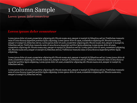 Red and Black Abstract Polygonal Background PowerPoint Template, Slide 4, 14963, Abstract/Textures — PoweredTemplate.com