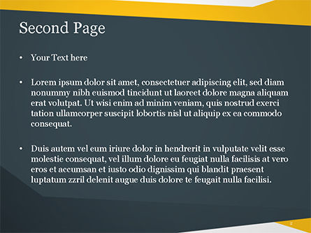 Yellow and Dark Grey Abstract PowerPoint Template, Slide 2, 14967, Abstract/Textures — PoweredTemplate.com