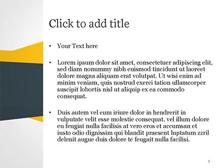 Yellow and Dark Grey Abstract PowerPoint Template, Slide 3, 14967, Abstract/Textures — PoweredTemplate.com