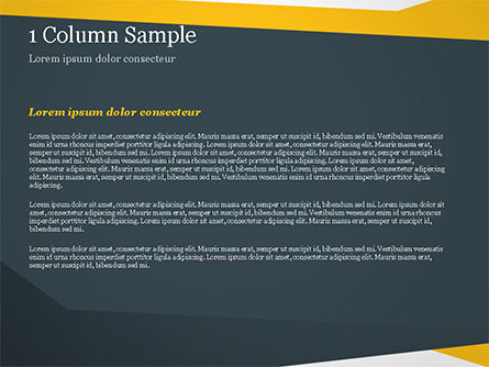 Yellow and Dark Grey Abstract PowerPoint Template, Slide 4, 14967, Abstract/Textures — PoweredTemplate.com