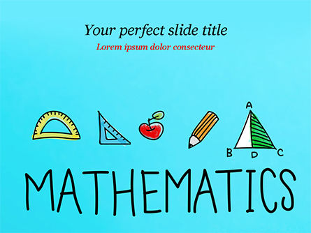Mathematical Doodles PowerPoint Template, 14968, Education & Training — PoweredTemplate.com