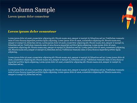 Cartoon Flying Rocket PowerPoint Template, Slide 4, 14970, Business Concepts — PoweredTemplate.com