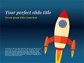 Business Concepts: Cartoon-fliegende rakete PowerPoint Vorlage #14970