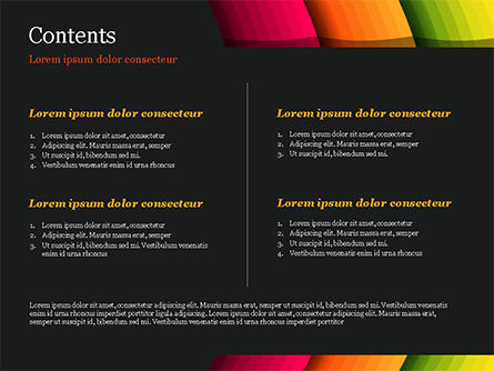 Bright Gradient Semicircles PowerPoint Template, Slide 2, 14972, Abstract/Textures — PoweredTemplate.com