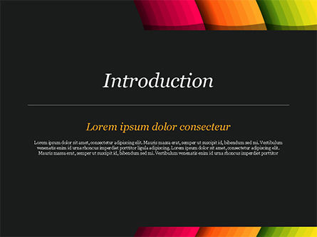 Bright Gradient Semicircles PowerPoint Template, Slide 3, 14972, Abstract/Textures — PoweredTemplate.com