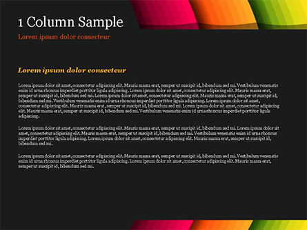 Bright Gradient Semicircles PowerPoint Template, Slide 4, 14972, Abstract/Textures — PoweredTemplate.com