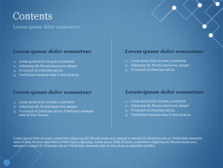 Geometric Pattern with Connected Lines and Dots PowerPoint Template, Slide 2, 14974, Abstract/Textures — PoweredTemplate.com