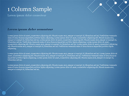 Geometric Pattern with Connected Lines and Dots PowerPoint Template, Slide 4, 14974, Abstract/Textures — PoweredTemplate.com