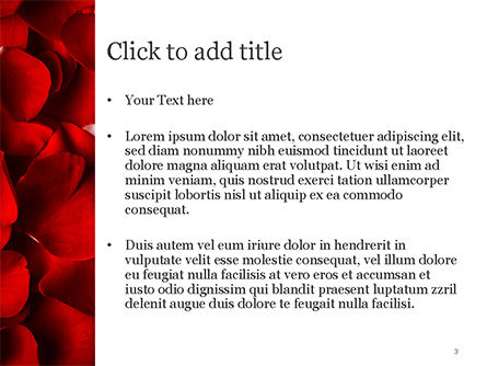 Beautiful Heart of Red Rose Petals PowerPoint Template, Slide 3, 14975, Holiday/Special Occasion — PoweredTemplate.com
