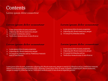 Beautiful Heart of Red Rose Petals PowerPoint Template, Slide 2, 14975, Holiday/Special Occasion — PoweredTemplate.com