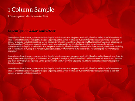 Beautiful Heart of Red Rose Petals PowerPoint Template, Slide 4, 14975, Holiday/Special Occasion — PoweredTemplate.com