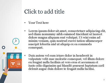 Online Shopping and Management Concept PowerPoint Template, Slide 3, 14976, Business — PoweredTemplate.com