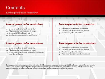 Businessman Staring at Infinite Maze PowerPoint Template, Slide 2, 14978, Business Concepts — PoweredTemplate.com