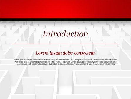 Businessman Staring at Infinite Maze PowerPoint Template, Slide 3, 14978, Business Concepts — PoweredTemplate.com