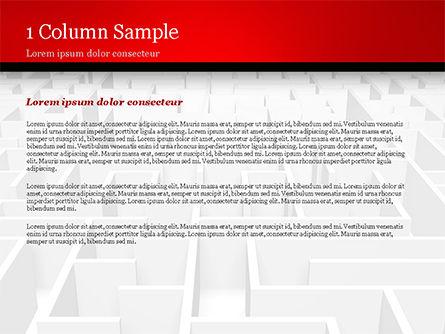 Businessman Staring at Infinite Maze PowerPoint Template, Slide 4, 14978, Business Concepts — PoweredTemplate.com