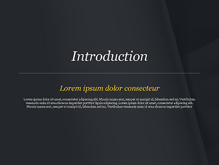 Abstract Black Origami Paper PowerPoint Template, Slide 3, 14980, Abstract/Textures — PoweredTemplate.com