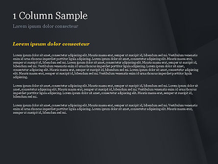 Abstract Black Origami Paper PowerPoint Template, Slide 4, 14980, Abstract/Textures — PoweredTemplate.com