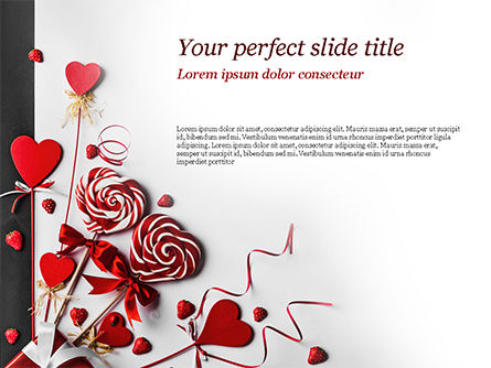 Heart Shaped Lollipops PowerPoint Template, 14981, Holiday/Special Occasion — PoweredTemplate.com
