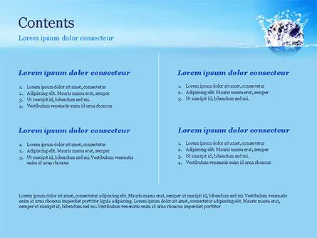 Earth in Water Splash PowerPoint Template, Slide 2, 14982, Nature & Environment — PoweredTemplate.com