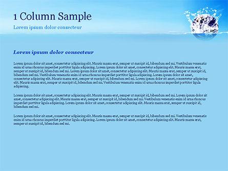Earth in Water Splash PowerPoint Template, Slide 4, 14982, Nature & Environment — PoweredTemplate.com