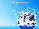 Nature & Environment: Aarde In Waterplons PowerPoint Template #14982