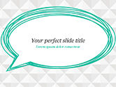 Abstract/Textures: Diamond Abstract  Background with Speech Bubble PowerPoint Template #14985
