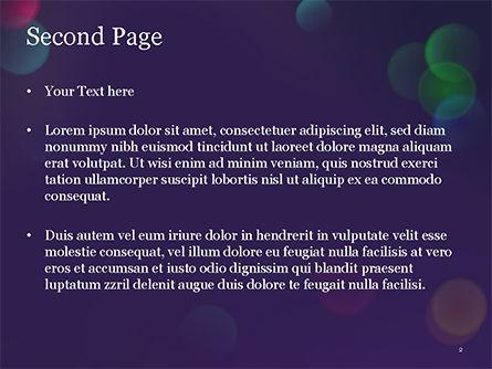 Bokeh Defocused Lights PowerPoint Template, Slide 2, 14987, Abstract/Textures — PoweredTemplate.com