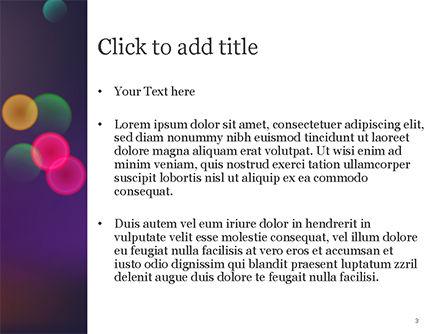 Bokeh Defocused Lights PowerPoint Template, Slide 3, 14987, Abstract/Textures — PoweredTemplate.com