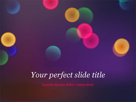 Bokeh Defocused Lights PowerPoint Template, 14987, Abstract/Textures — PoweredTemplate.com