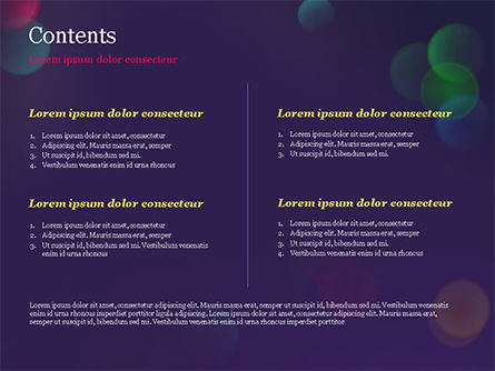 Bokeh Defocused Lights PowerPoint Template, Slide 2, 14987, Abstract/Textures — PoweredTemplate.com