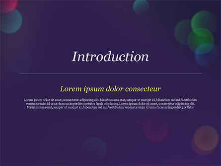 Bokeh Defocused Lights PowerPoint Template, Slide 3, 14987, Abstract/Textures — PoweredTemplate.com