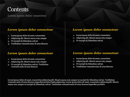 Dark Abstract Geometric Triangles PowerPoint Template, Slide 2, 14991, Abstract/Textures — PoweredTemplate.com