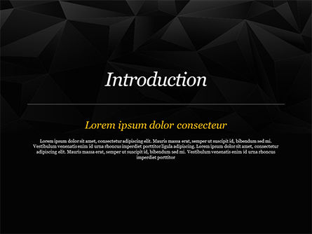 Dark Abstract Geometric Triangles PowerPoint Template, Slide 3, 14991, Abstract/Textures — PoweredTemplate.com