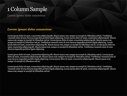 Dark Abstract Geometric Triangles PowerPoint Template, Slide 4, 14991, Abstract/Textures — PoweredTemplate.com