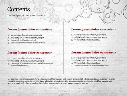 Cartoon Gear Wheels PowerPoint Template, Slide 2, 14997, Technology and Science — PoweredTemplate.com