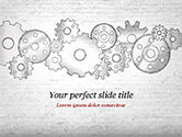 Technology and Science: Cartoon Gear Wheels PowerPoint Template #14997