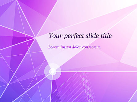 Abstract Purple Triangles PowerPoint Template, 14999, Abstract/Textures — PoweredTemplate.com