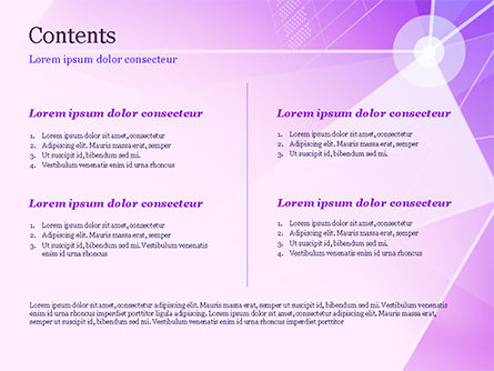 Abstract Purple Triangles PowerPoint Template, Slide 2, 14999, Abstract/Textures — PoweredTemplate.com