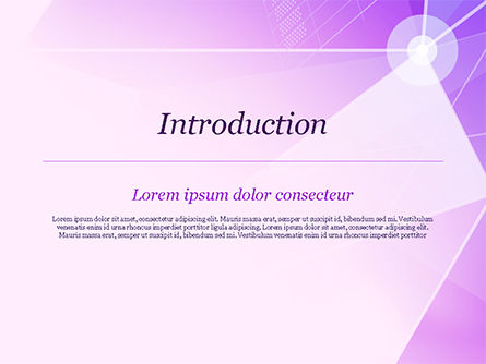 Abstract Purple Triangles PowerPoint Template, Slide 3, 14999, Abstract/Textures — PoweredTemplate.com